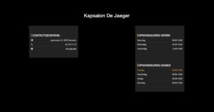 Website Kapsalon De Jaeger